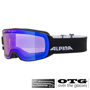 Alpina Alpina Nakiska QVM Photochromic OTG Skibril - Zwart