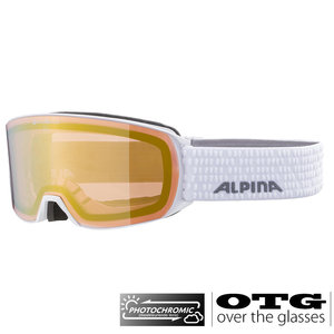 Alpina Nakiska QVM Photochromic OTG Skibril - 2020- Wit