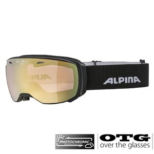 Alpina Estetica QVM Photochromic OTG Skibril - 2020- Zwart