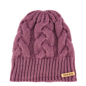 Sinner Cable Beanie - Paars