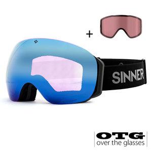 Sinner Sinner Avon OTG Skibril - Zwart + GRATIS EXTRA LENS
