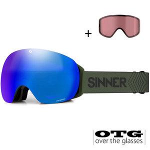 Sinner Sinner Avon Skibril - Mosgroen + GRATIS EXTRA LENS