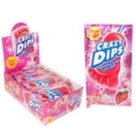 Chupa Chups Chupa Chups Crazy Dip popping candy aardbei 14 gr