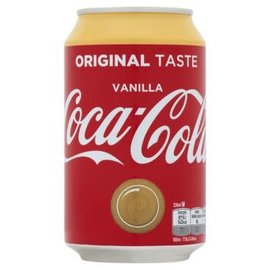 Coca Cola Coca Cola Vanille blik 33cl (BE versie)