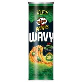 Pringles Pringles Wavy Fire Roasted Jalapeno Chips