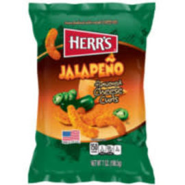 Herr's Herr's Jalapeno poppers cheese curls 198 gr