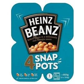 Heinz Heinz Baked Beanz Snap Pot 4 x 200 gr