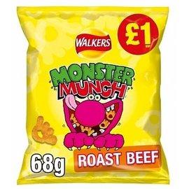Monster Munch Monster Munch Roast Beef 68 gr