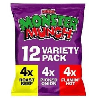 Monster Munch Monster Munch Variety 12 pack 12 x 22 gr