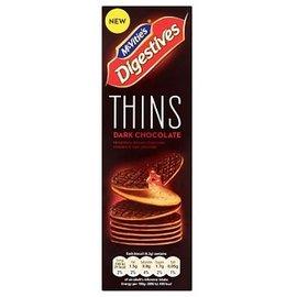 Mcvities Mcvities Digestive Thins Dark Chocolate 180 gr