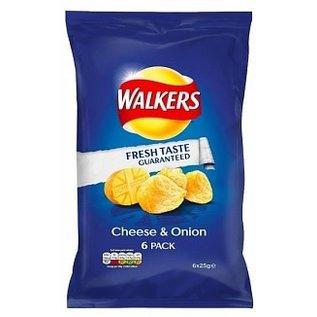 Walkers Walkers Crisps Cheese & Onion 6pack 6 x 25 gr