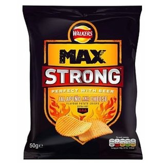 Walkers Walkers Max Strong Jalapeno & Cheese 50 gr