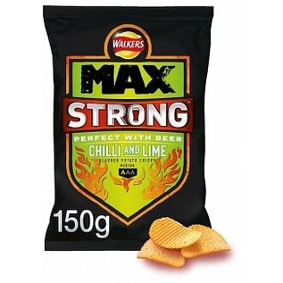 Walkers Walkers Max Strong Chilli & Lime 150 gr