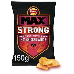 Walkers Walkers Max Strong Hot Chicken Wing 150 gr