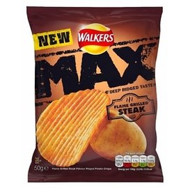 Walkers Walkers Max Flame Grilled Steak Crisps 50 gr