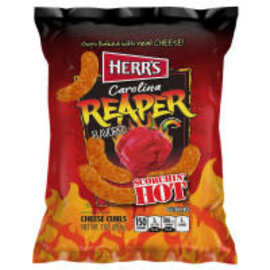 Herr's Herr's Carolina reaper cheese curls big 185 gr