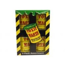 Toxic Waste Toxic Waste 4-pack Yellow Drum 4 x 42 gr