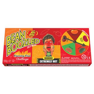 Jelly Belly Bean Boozled flaming Five Spinner Wheel Game Box