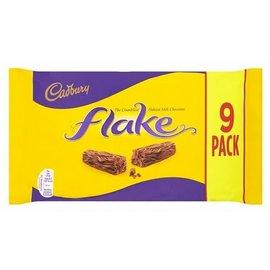 Cadbury Cadbury Flake Choc Bar 9 pack 180 gr
