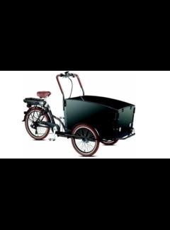Troy E-bike  Special Bakfiets - Fiets (elektrisch) - Unisex - Zwart/Bruin