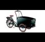 Vogue Special Bakfiets - Fiets (elektrisch) - Unisex - Zwart/Bruin met huif!