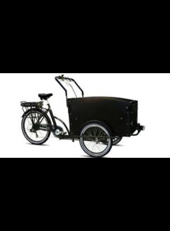 Troy E-bike  Special Bakfiets - Fiets (elektrisch) - Unisex - Zwart/Grijs