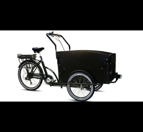 Troy E-bike  Vogue Special Bakfiets - Fiets (elektrisch) - Unisex - Zwart/Grijs met huif!