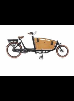 Vogue E-bakfiets Vogue Elektrische bakfiets twee wielen Carry zwart/bruin 481 Watt