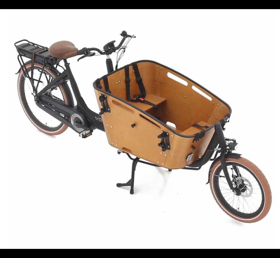 Vogue Elektrische bakfiets twee wielen Carry zwart/bruin 481 Watt