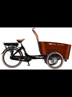 Vogue E-bakfiets Vogue Carry bakfiets Midden motor Kangeroo 7V zwart/bruin