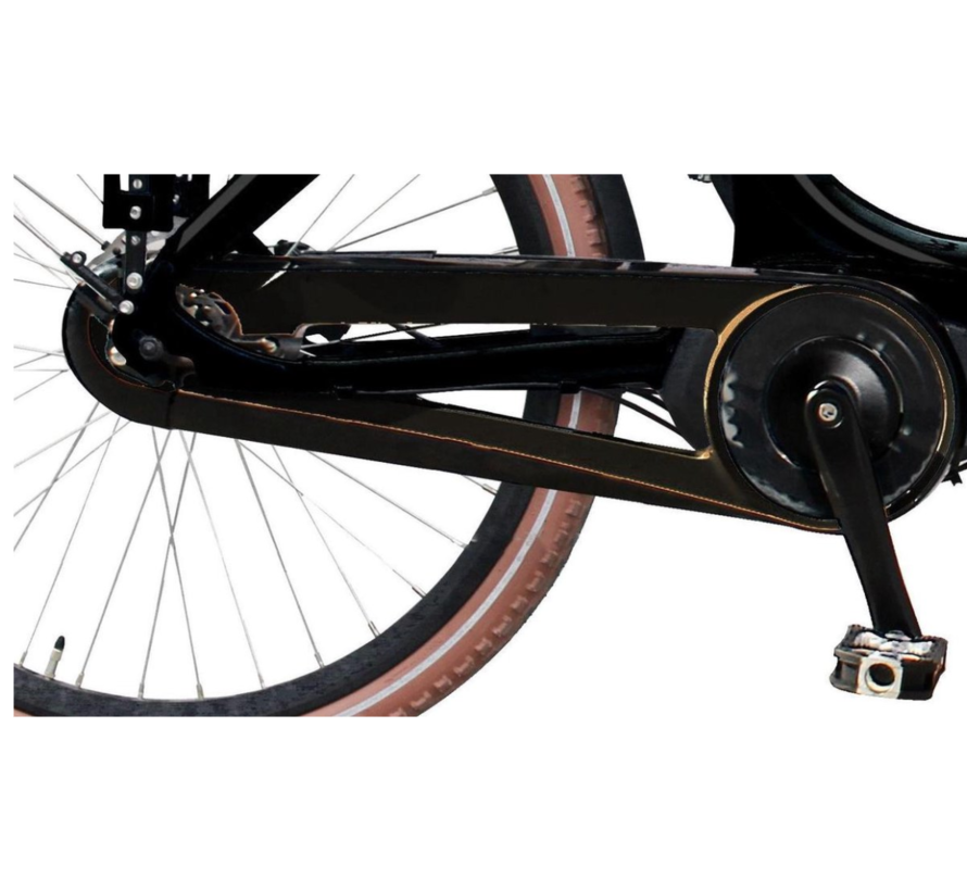 Vogue Carry bakfiets Midden motor Kangeroo 7V zwart/bruin