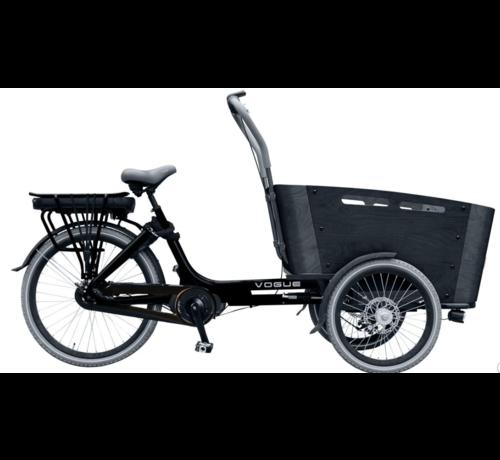 Vogue E-bakfiets Vogue Carry bakfiets Midden motor Kangeroo 7V matzwart