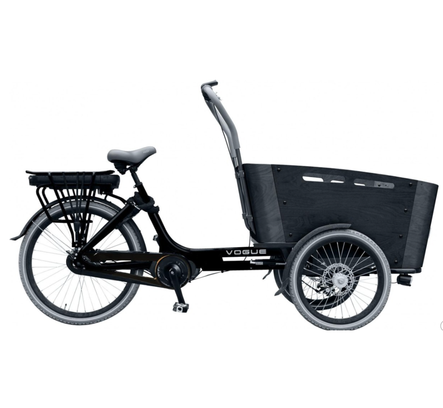 Vogue Carry bakfiets Midden motor Kangeroo 7V matzwart