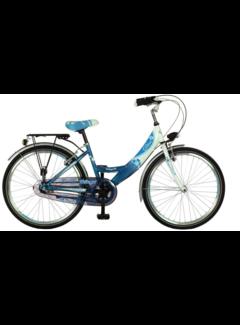 Wings Meisjesfietsen Diva H 35 Cm 24 inch 3 Speed Nexus blauw wit