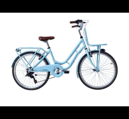 Retro Meisjes fiets RETRO 22inch met 6 versnellingen verkrijgbaar in twee kleuren