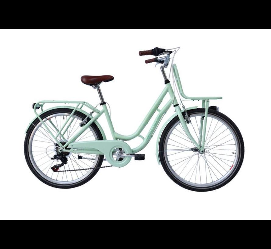 Meisjes fiets RETRO 22inch met 6 versnellingen verkrijgbaar in twee kleuren