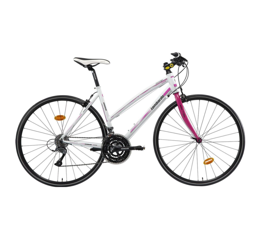 Lombardo Ventimiglia Cycle Cross D Framehoogte 48 Cm 24 Speed White Fuchsia