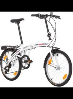 Probike Probike Opvouwbare 20 inch vouwfiets, vouwfiets, shimano 6 versnelling, Herenfiets & Jongensfiets, geschikt van 160 cm - 185 cm