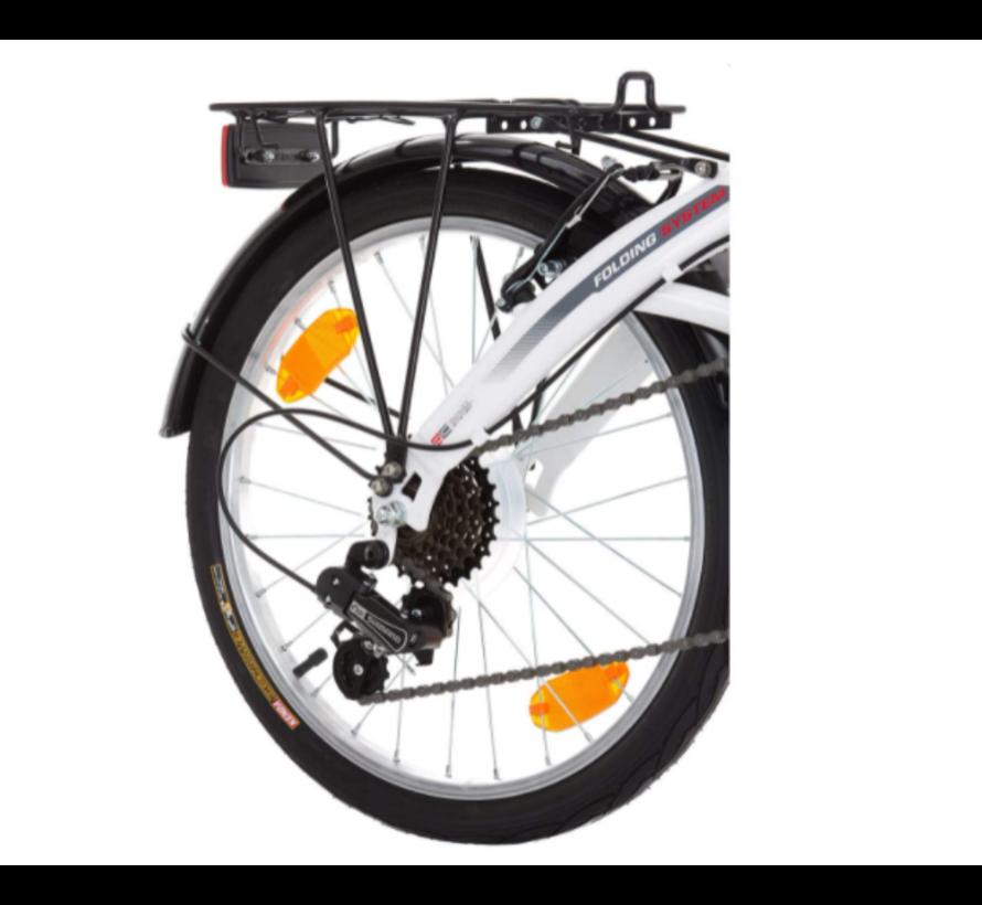 Probike Opvouwbare 20 inch vouwfiets, vouwfiets, shimano 6 versnelling, Herenfiets & Jongensfiets, geschikt van 160 cm - 185 cm