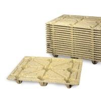 Palete de fibra de madeira, F10-4, leve, 1200x1000x143mm