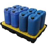 Tina de retenção em plástico com grade, 100 l, 1200x800x175mm