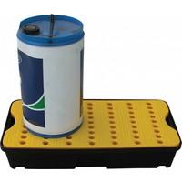 Tina de retenção de plástico com grade, 30 l, 805x405x155mm