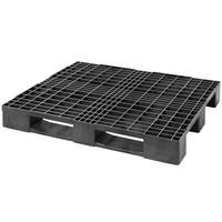 Palete de plástico industrial, 3 patins, topo perfurado, 1200x1000x150mm