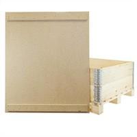 Tampa para colar de madeira de paletes, com 2 barras de fixação, 1200x1000x10mm
