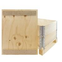 Tampa para colar de madeira para palete com 2 barras de fixação, 800x600x9mm