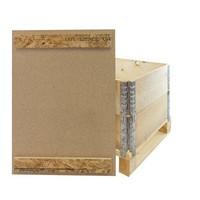 Tampa para colar de madeira para palete, com 2 barras de fixação, 800x600x10mm