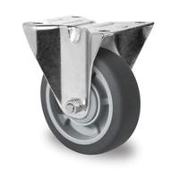 Rodízio fixo, diâmetro de 100mm, rolamento de esferas, PP / TPR