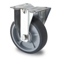 Rodízio fixo, diâmetro de 125mm, rolamento de esferas, PP / TPR