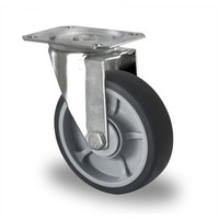 Rodízio direcional, diâmetro de 125mm, rolamento de esferas, PP / TPR