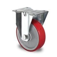 Rodízio fixo, diâmetro de 100mm, rolamento de esferas, PA / PU